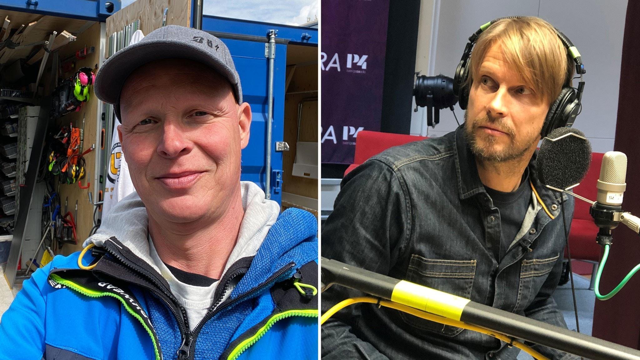 Johnnie och Mattias om det svåra i jobbet: Man går ut i skogen och skriker
