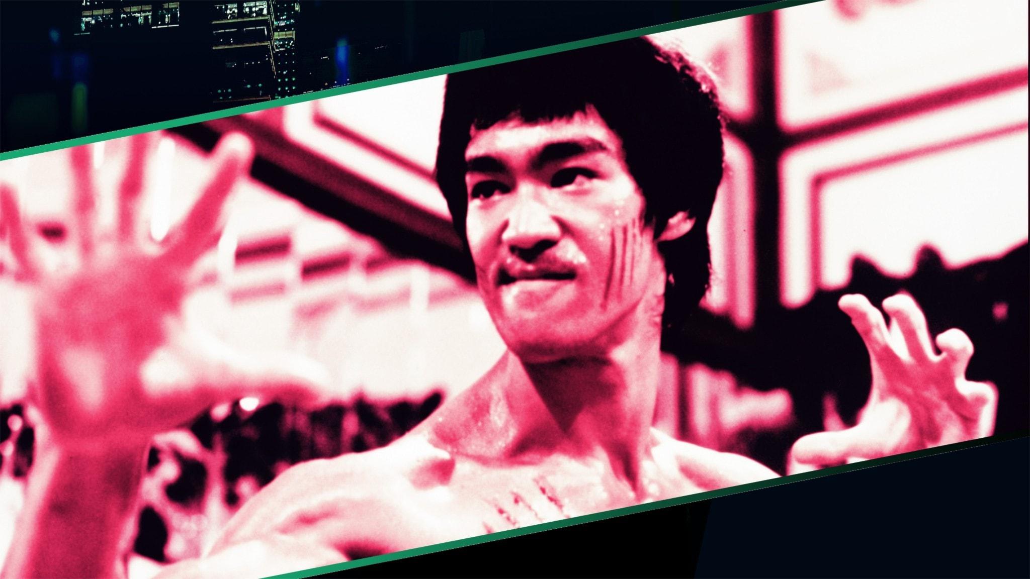 Bruce Lee på vita duken.