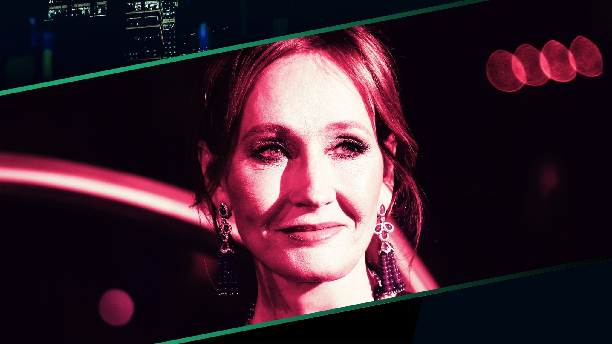 J.K. Rowling på filmpremiär