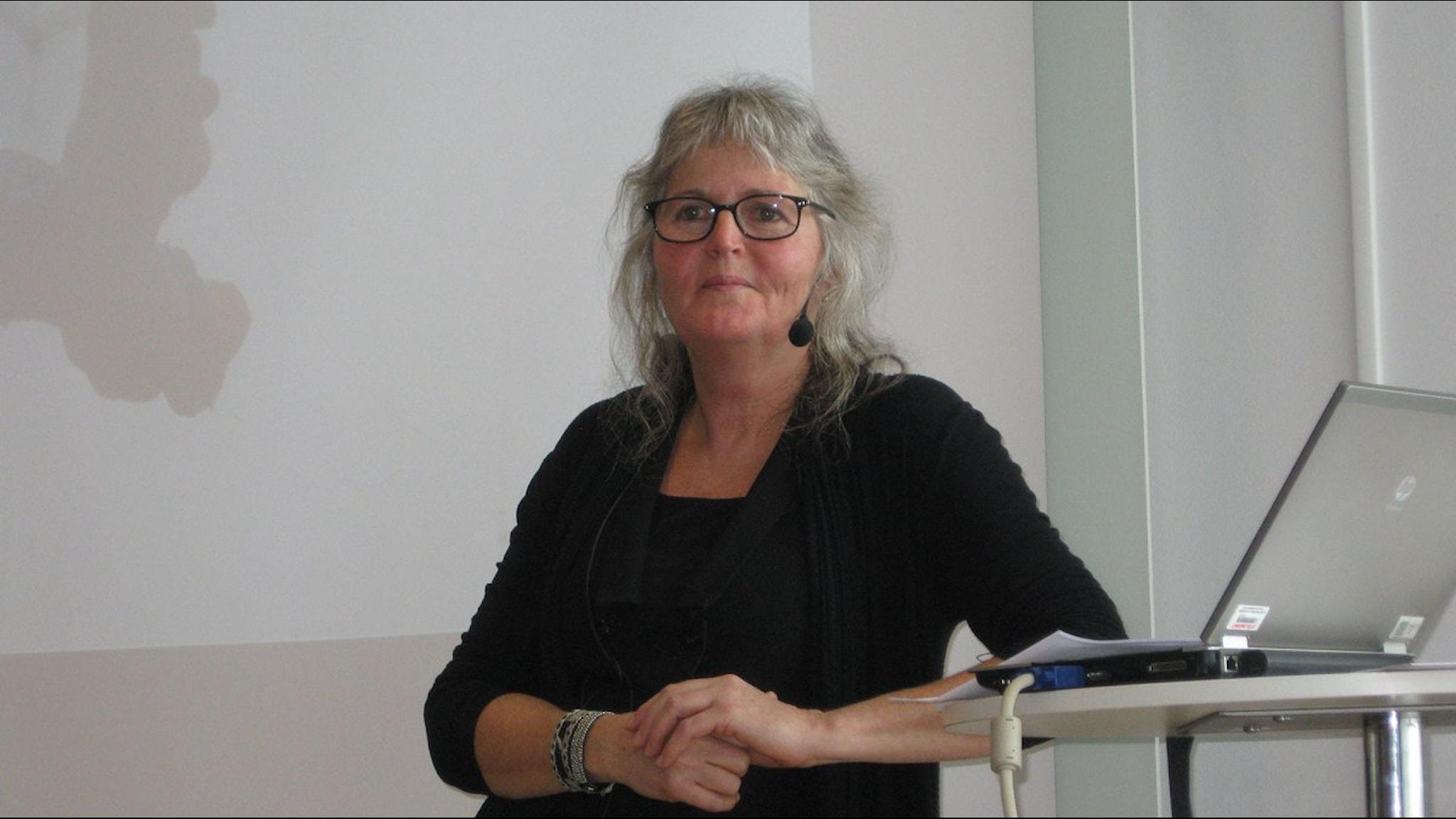 Eva Alerby, professor i pedagogik, Luleå tekniska universitet. Foto: Anna Torgnysdotter/Sveriges Radio