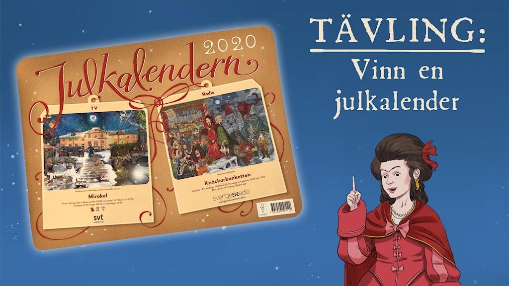 Tyra och julkalendern. Illustrationer: Emil Maxén