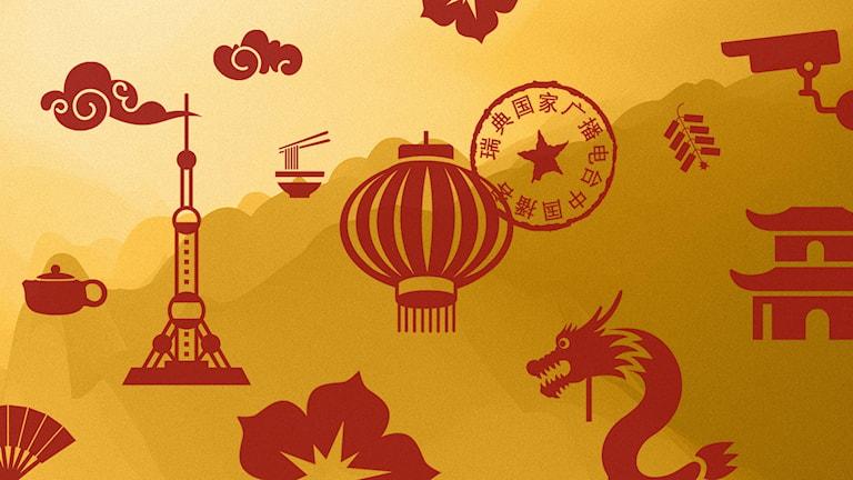 Programbild för Kinapodden i P1