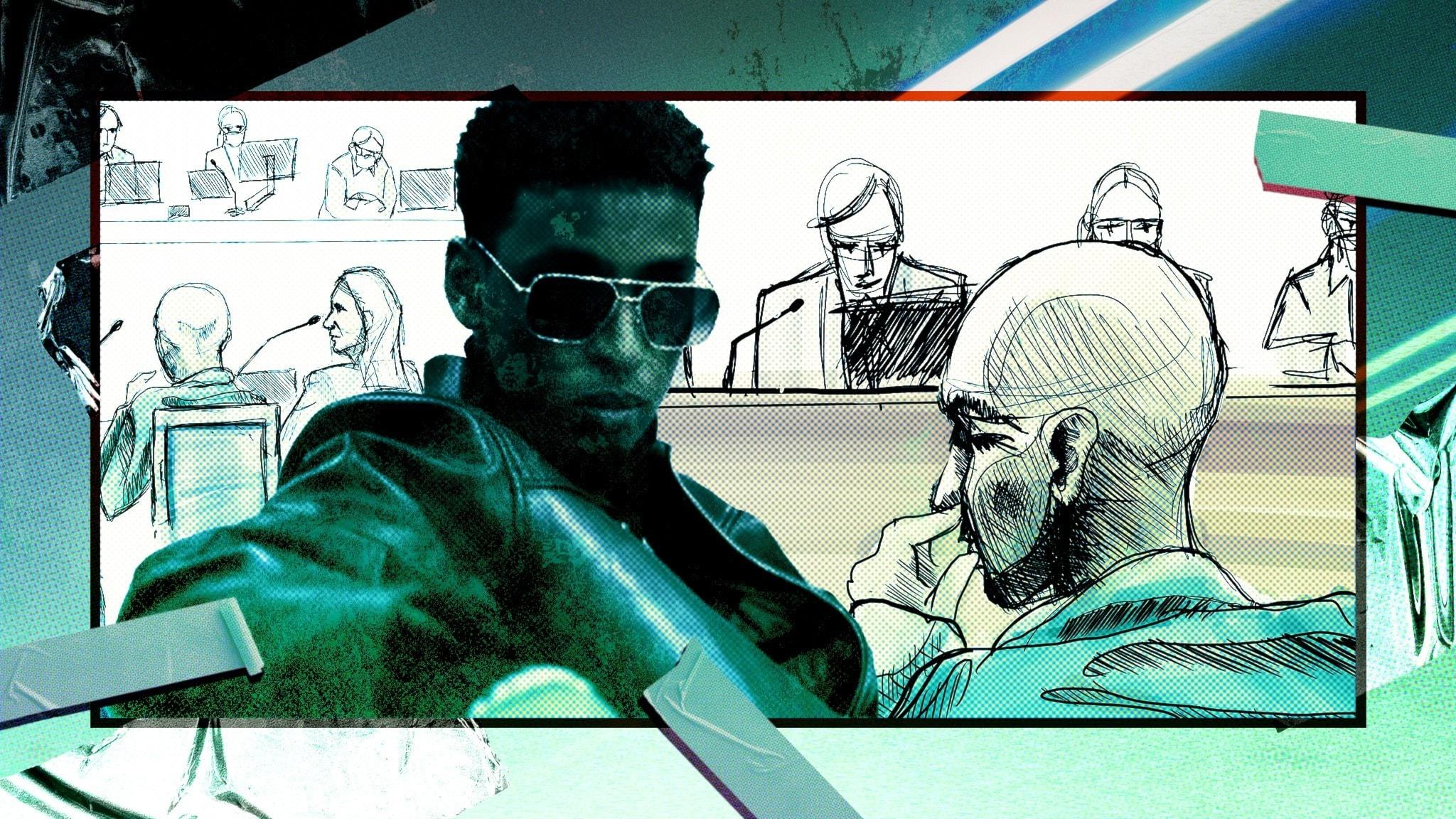 Yasin och teckningar från rättegången