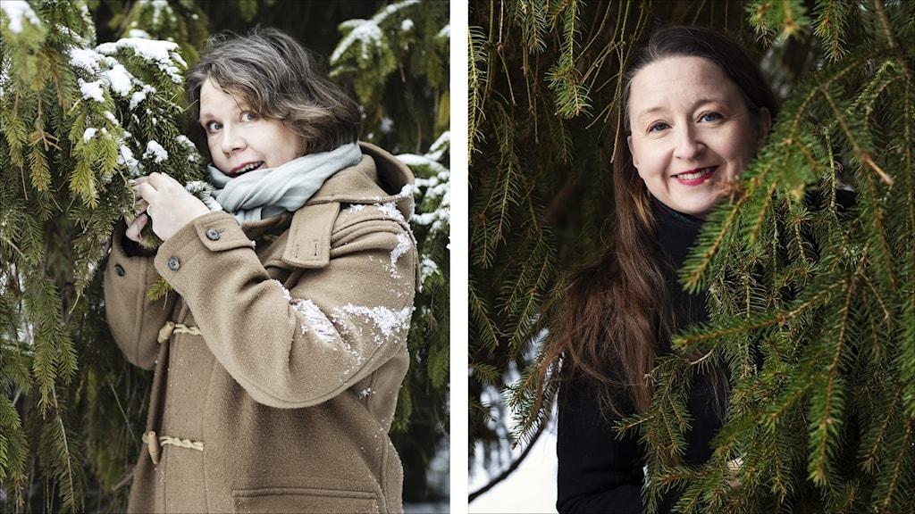 Åsa Asptjärn och Gertrud Larsson, författare julkalendern 2021