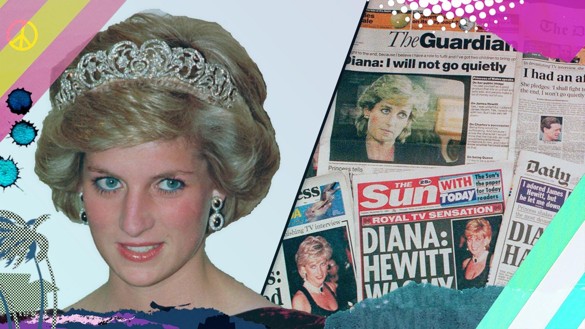 Stora händelser om prinsessan Diana