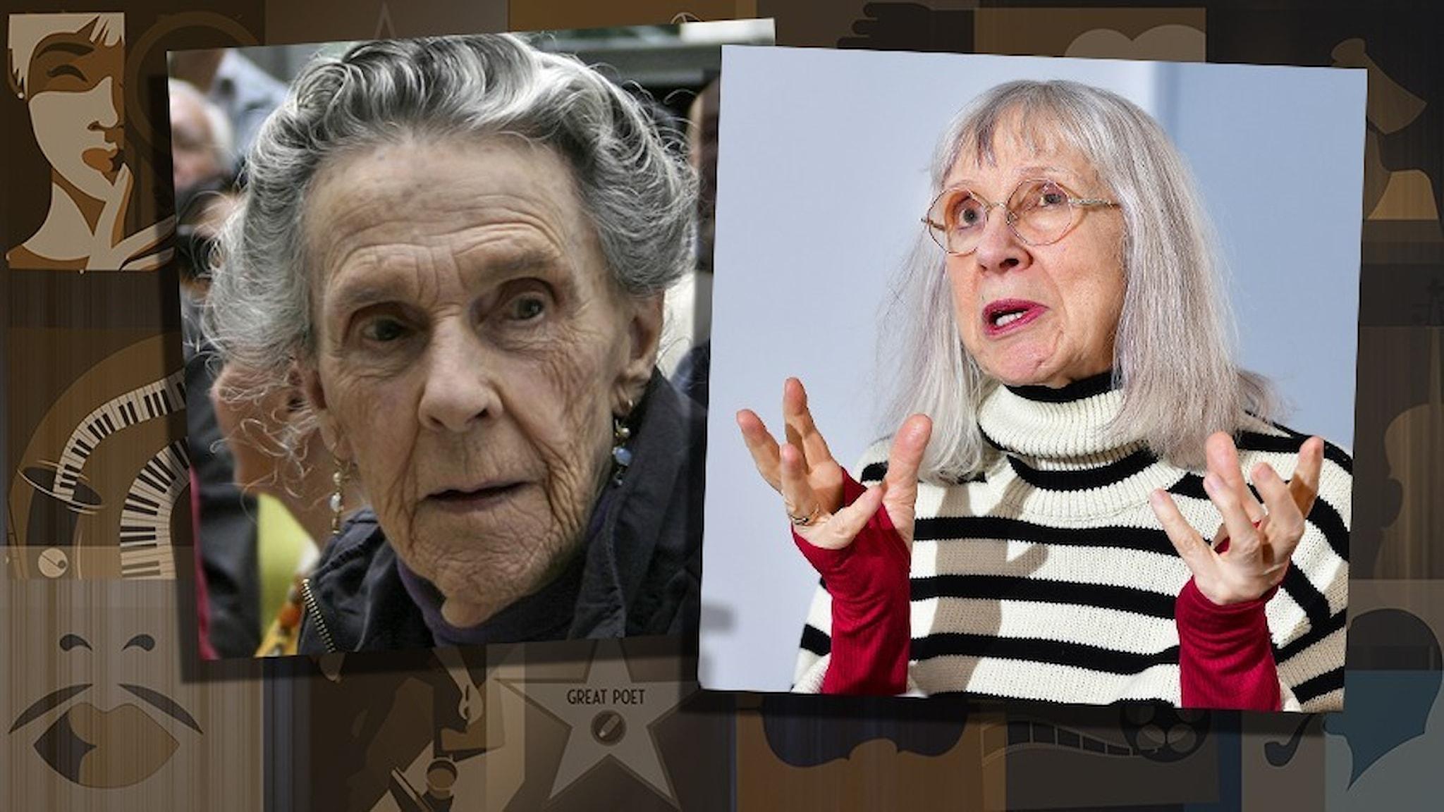 Porträtt av Leonora Carrington och Suzanne Osten.