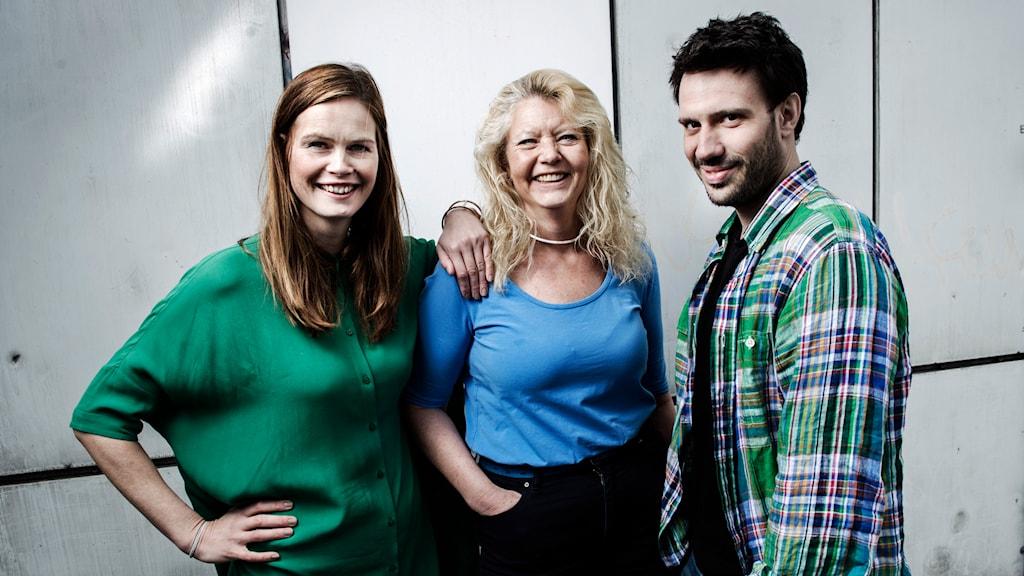 Jenny Goldkuhl, Mia Sjöqvist och Dejan Cokorilo. Foto: Mattias Ahlm /Sveriges Radio.