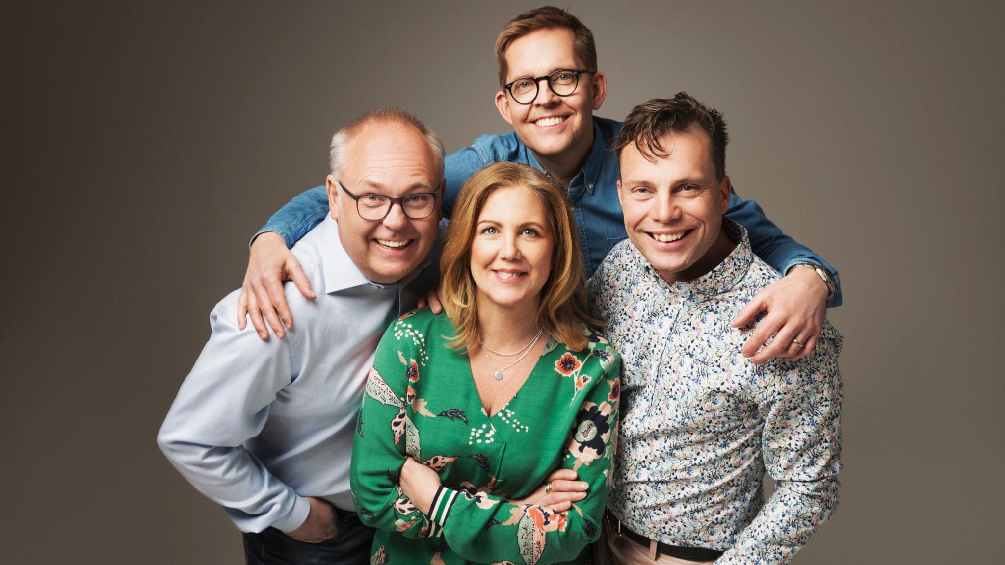 Med Mia, Henrik, Lasse och Ola
