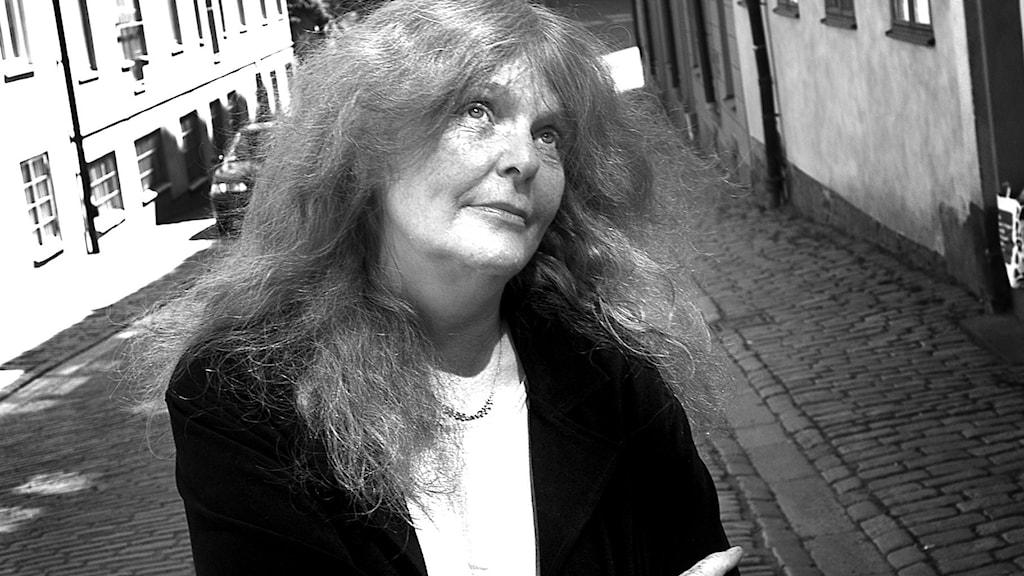 Kristina Lugn, författare och konstnärlig ledare vid teatern Brunnsgatan Fyra i Stockholm, 2003.