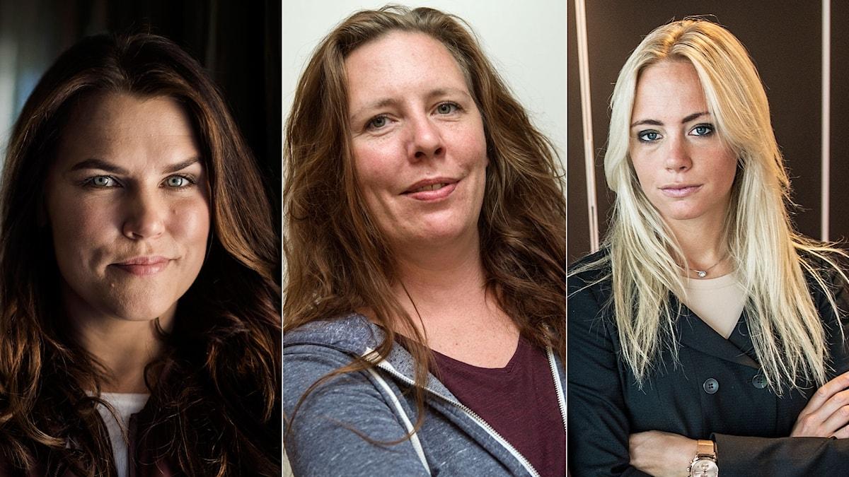 Mia Skäringer, Martina Montelius och Carolina Neurath skriver brev till sin dotter.