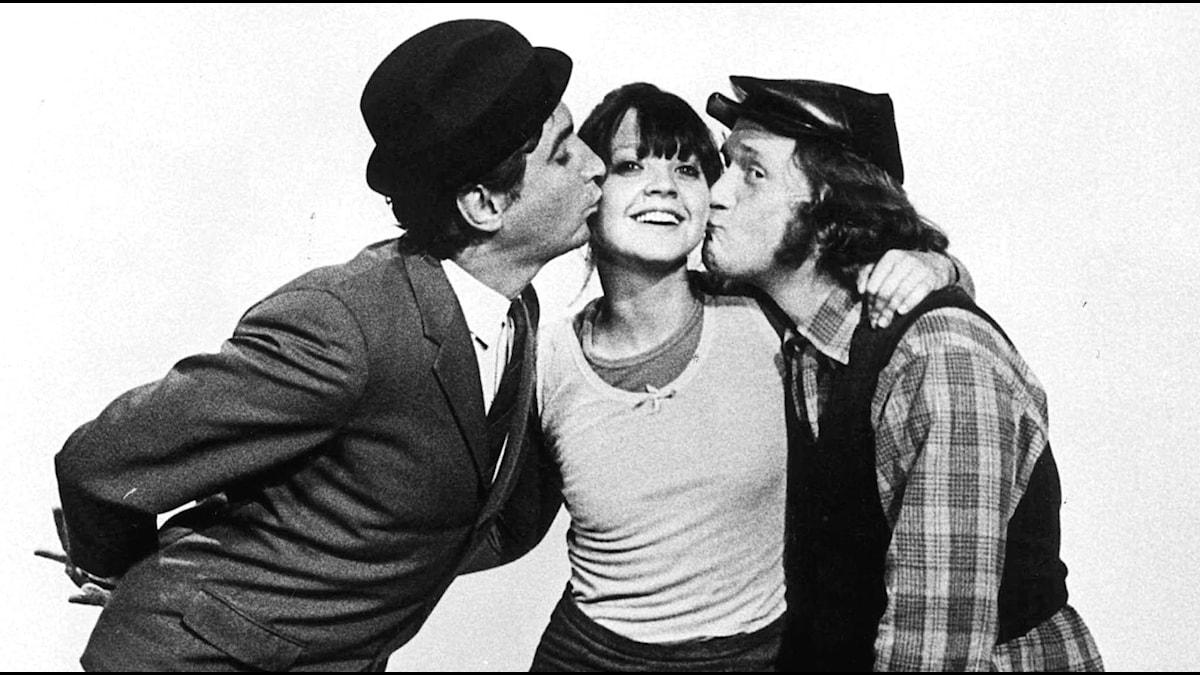 Magnus, Brasse och Eva i mitten Foto:TT