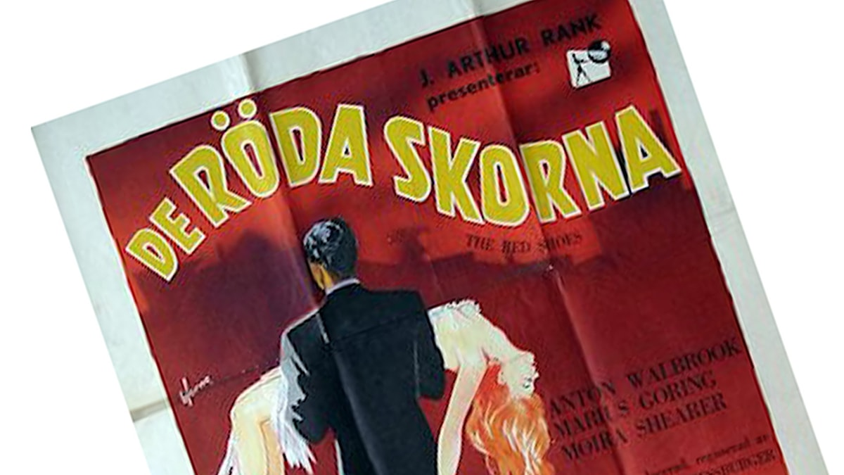 """Ett utsnitt ur filmaffischen till filmen """"De röda skorna"""" från 1948"""