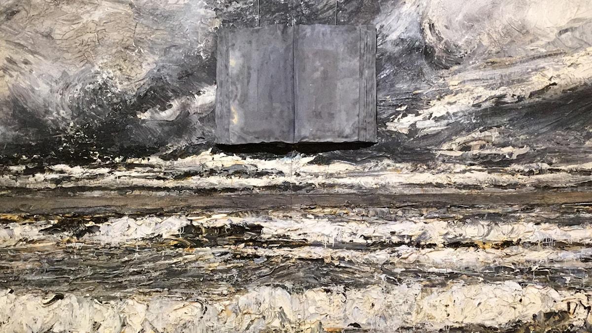 Anselm Kiefers målning som anspelar på Heidegger. Foto: Mikael Timm