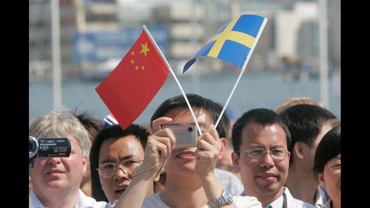 """Folkmassor i väntan på att Ostindiefararen """"Götheborg"""" ska återkomma efter jungfruresan till Kina 2007."""