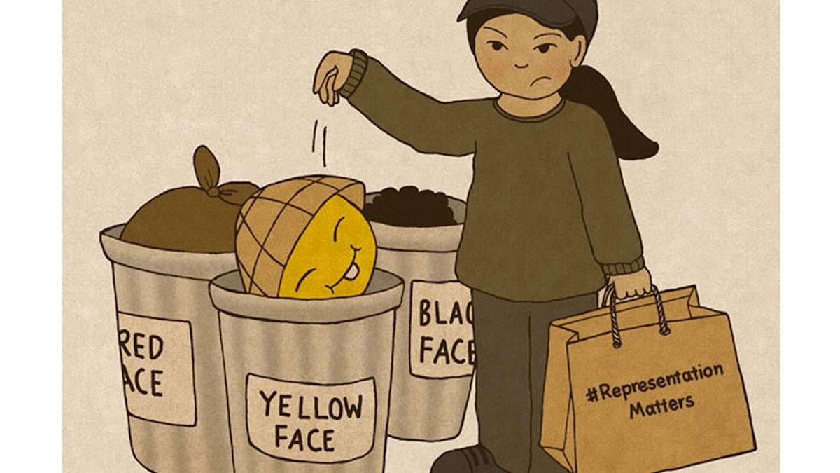 """""""Representation matters"""" av Lisa Wool-Rim Sjöblom (bilden är beskuren)."""