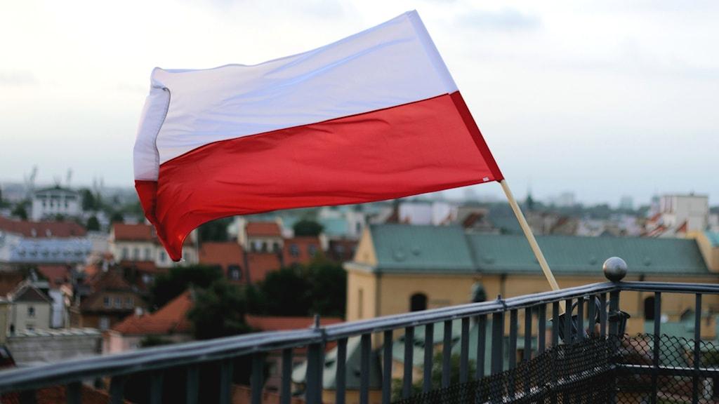 Polens flagga