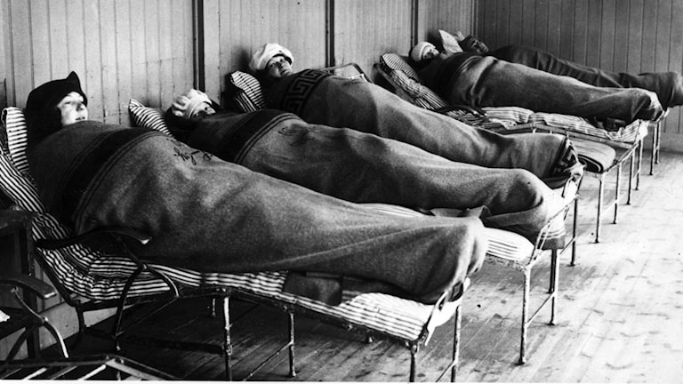 Liggkur på sanatoriebalkong 1927