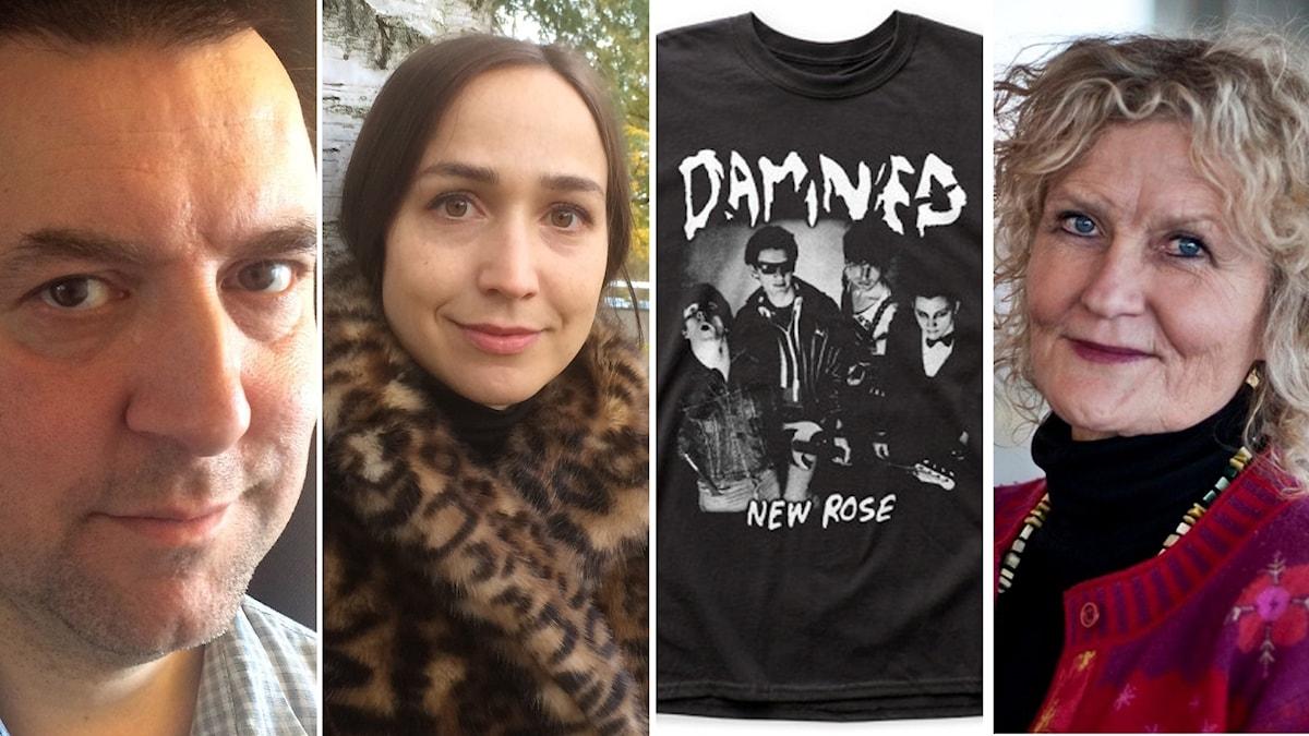 Fredrik Wadström, Maria Andersson, The Damned och Mia Gerdin. Foto: SR