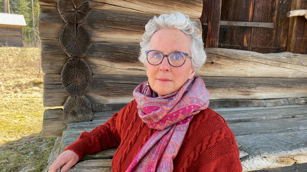 BIrgitta Lillpers på hembygdsgården i Orsa