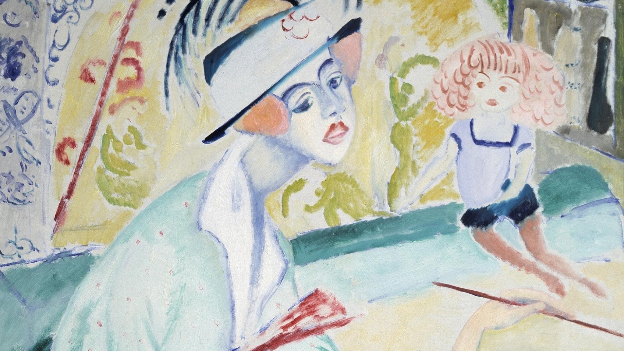 Självporträtt, Sigrid Hjertén 1914 (beskuren)