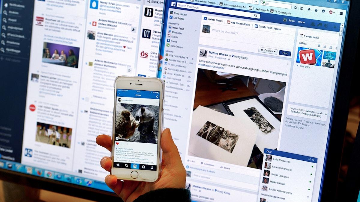Algoritmer och sociala medier.