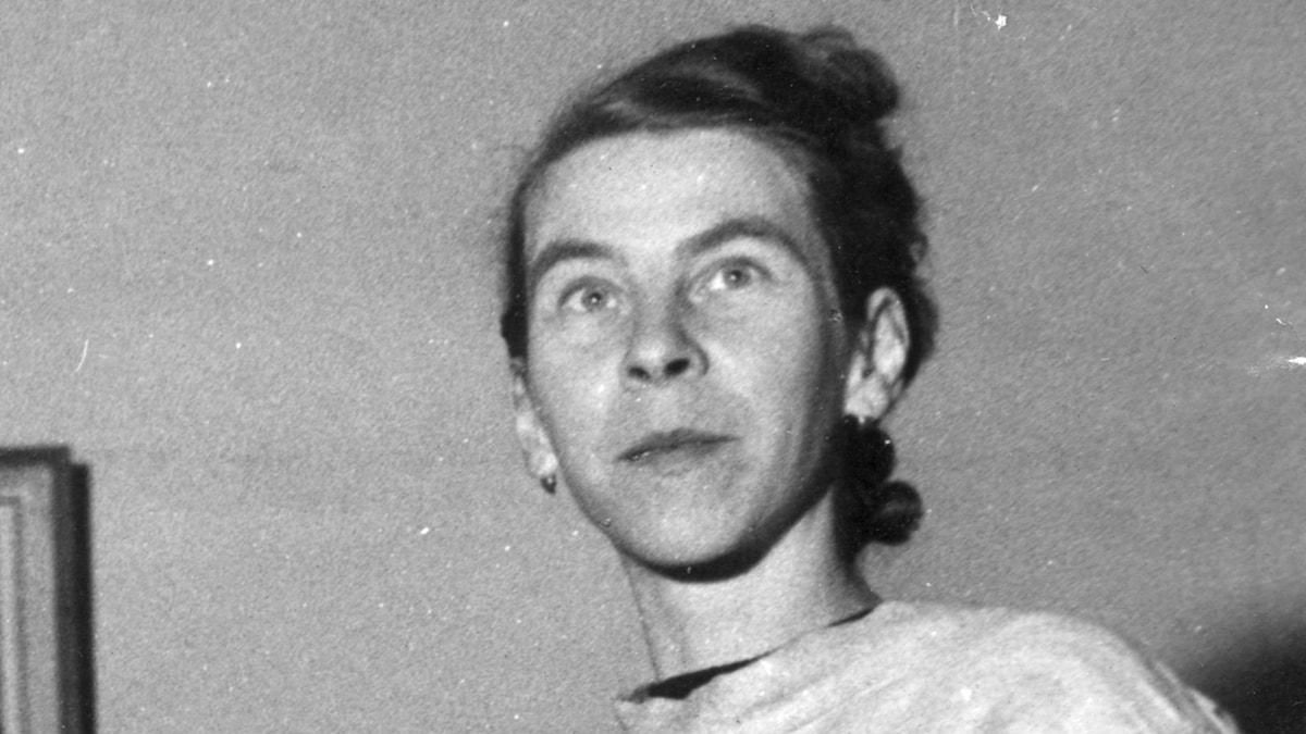 Tove Jansson som ung konstnär.