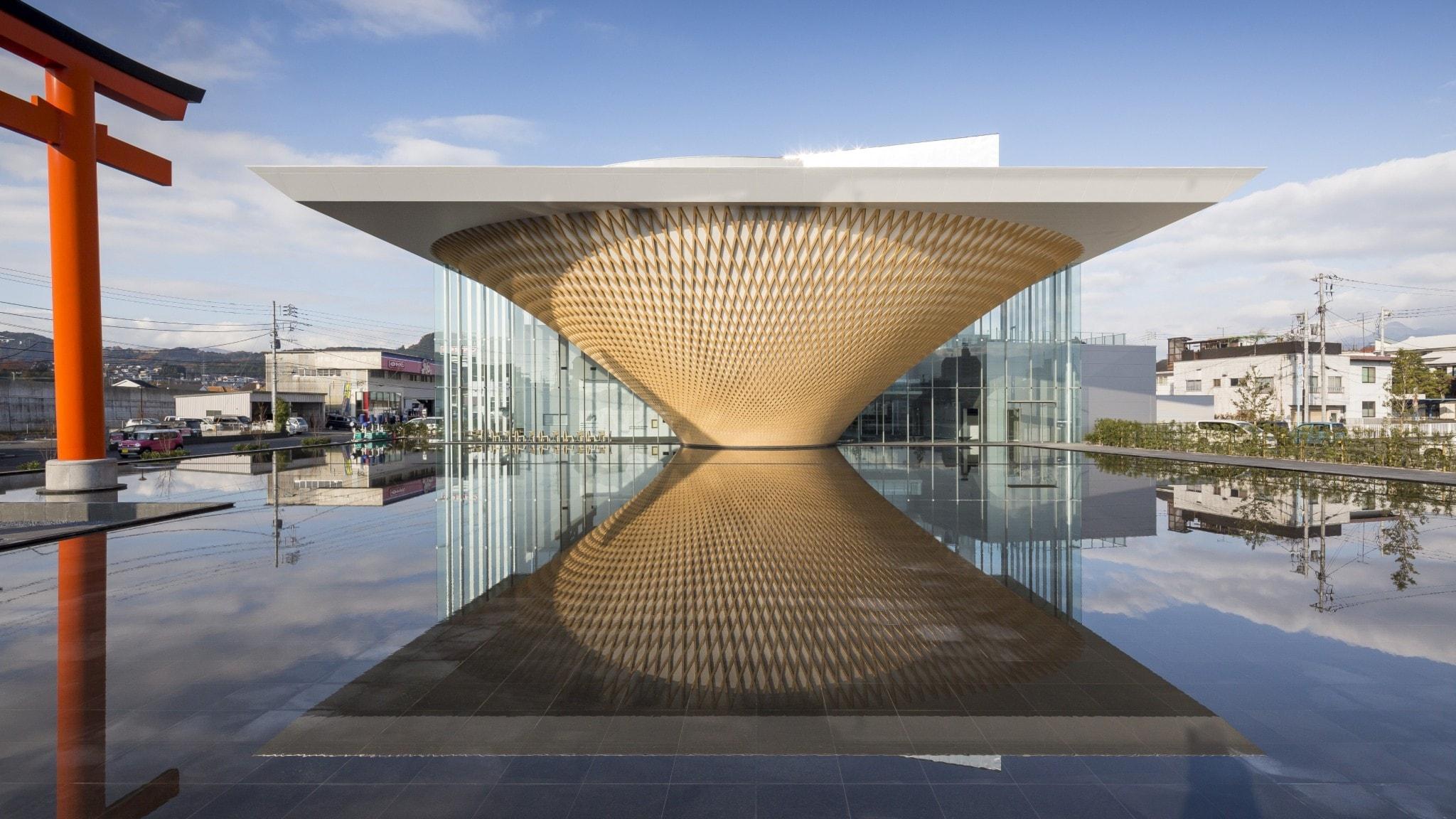 Fuji World Heritage Center av arkitekten Shigeru Ban