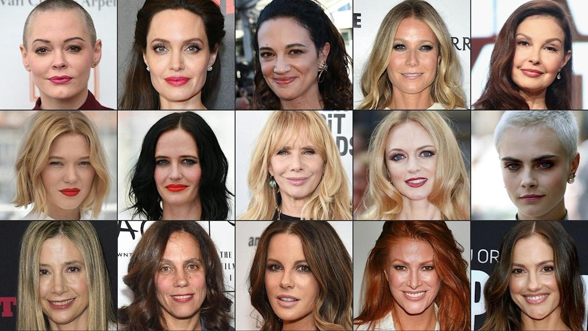 Allt fler kvinnor har offentligt vittnat om sextrakasserier i filmbranschen. Foto: AFP PHOTO / GETTY IMAGES NORTH AMERICA AND AFP PHOTO / STAFF