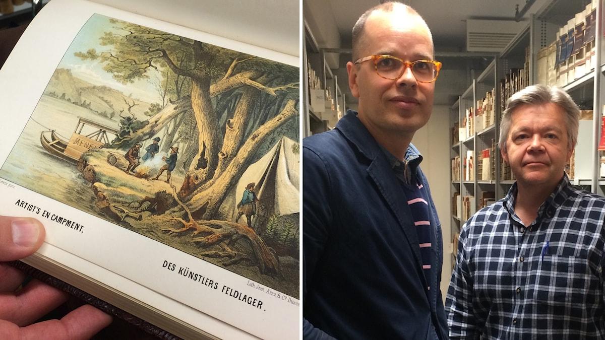 Greger Bergvall och Jan Ottosson på Kungliga Biblioteket har tagit över jakten på de stulna KB-böckerna.