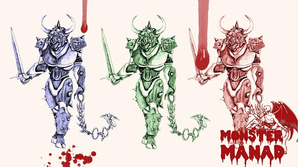 Den mytiska minotauren.