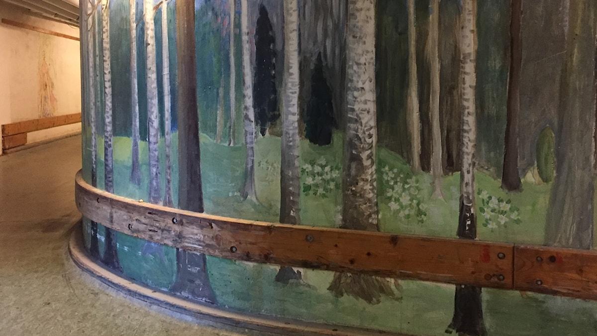 Målning i Lillhagens kulvertar.