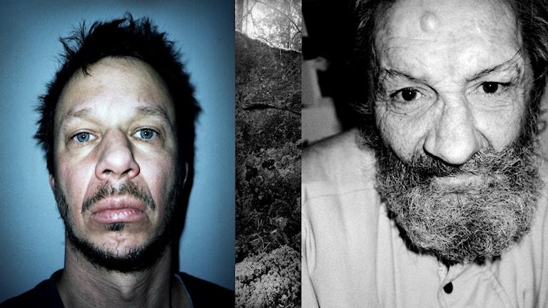 Porträtt två män, en är fotografen J H Engström