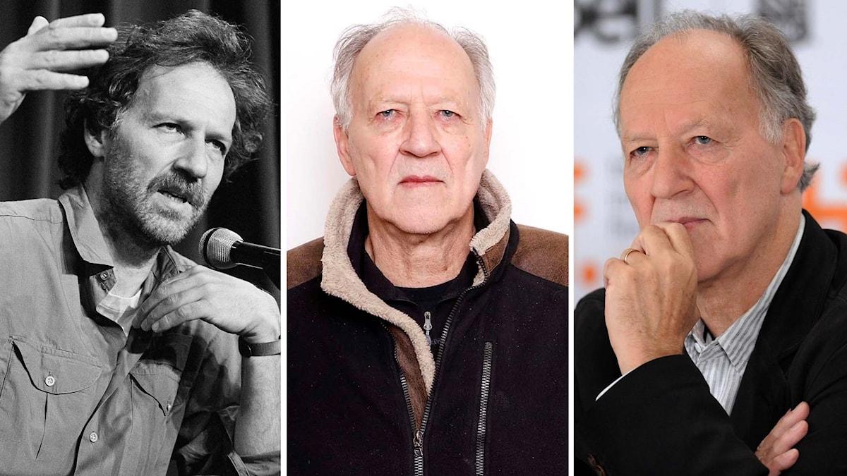 Werner Herzog bit för bit. Foto: Michel Lipchitz/AP, Matt Sayles/Invision/AP, Evan Agostini/AP
