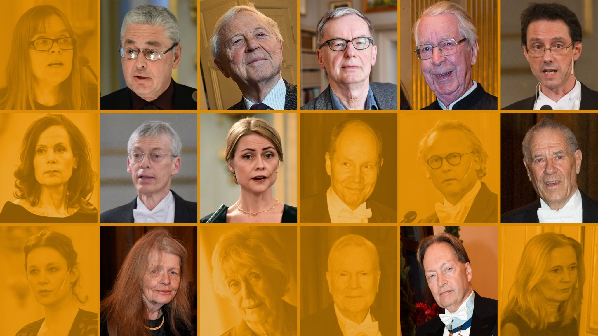 De aderton i Svenska Akademien.