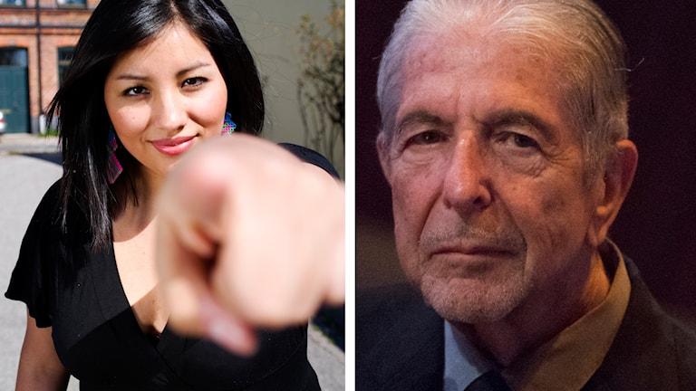 Cynthia Guarachi är ett stort Leonard Cohen-fan. Foto: SVT Bild/AP