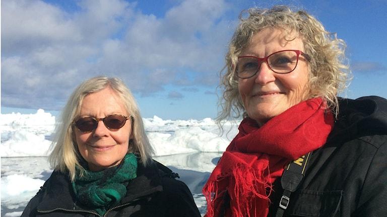 Ulla Strängberg och Mia Gerdin i Grönland
