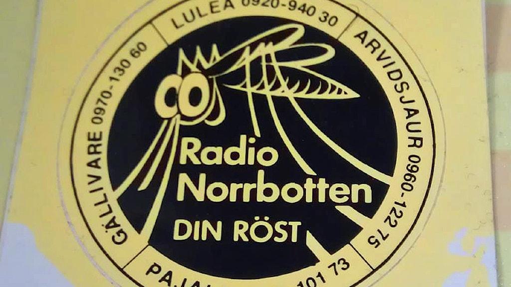 Radio Norrbotten-logga: Myggan. Foto: André Pettersson/Sveriges Radio.
