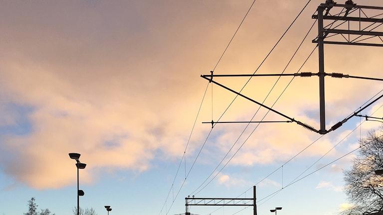 Åre järnvägsstation kontaktledningar