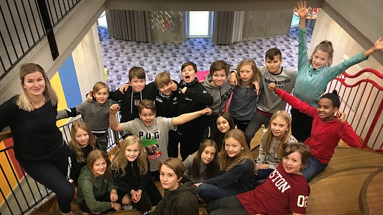 Klass 5 på Sånghusvallen i Krokoms kommun.