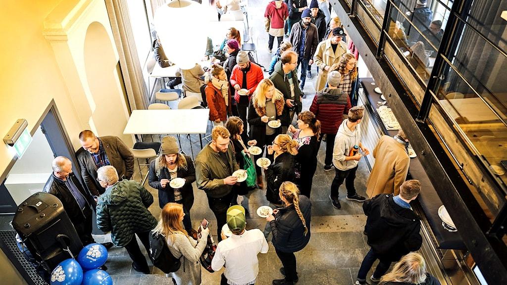 Festligt vid återinvigningen av Studenternas Hus på Campus Östersund på onsdagen. 181003. Foto: Annacarin Aronsson/Mittuniversitetet