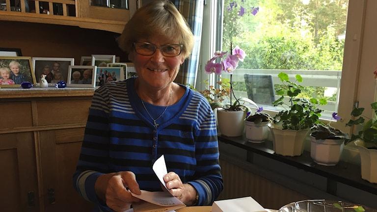 Ingrid Ringqvist, som är engagerad i nomineringsgruppen Partipolitiskt obundna i Svenska kyrkan, Posk, i Östersund.