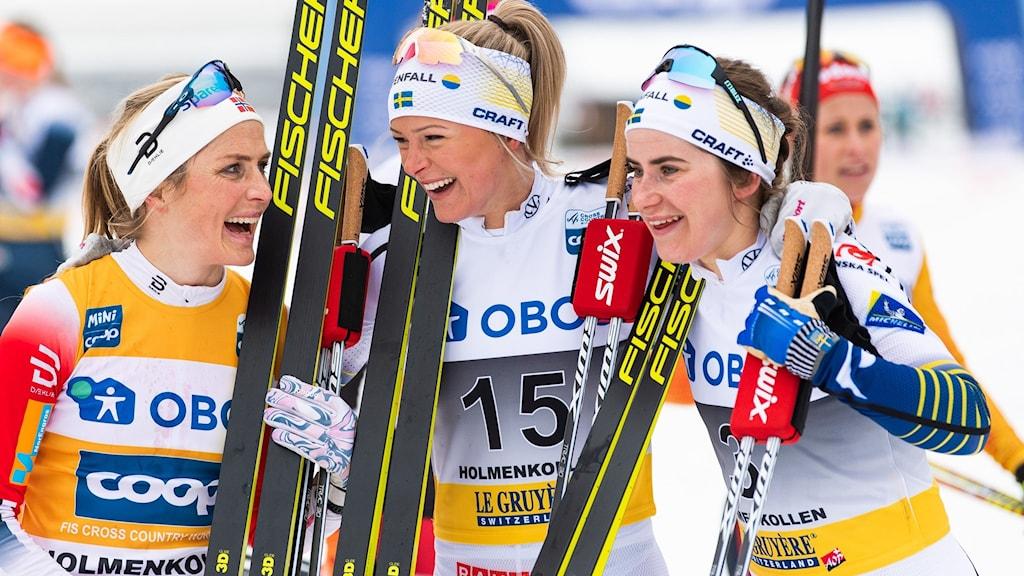 Therese Johaug, Frida Karlsson och Ebba Andersson