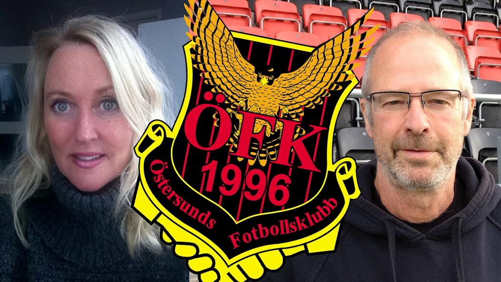 Lena Andersson, ÖFK:s emblem och Lasse Landin