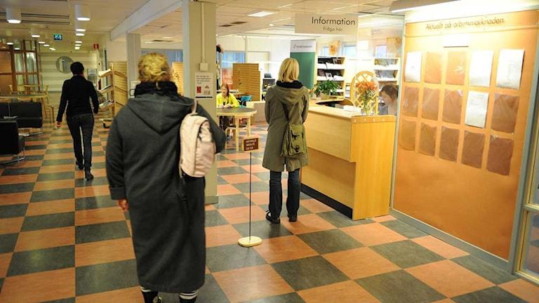 Arbetsförmedlingens kontor i Östersund. Foto: SR Jämtland
