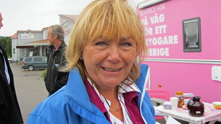 Ordförande i Justitieutskottet Beatrice Ask. Foto: Agneta Nilsson/SR Jämtland