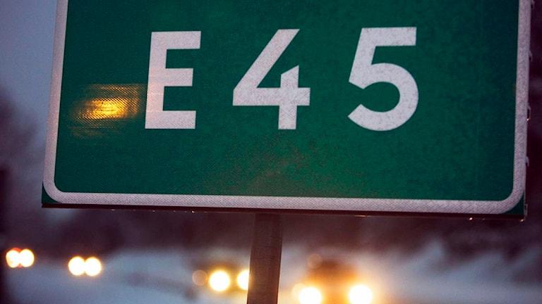 Vägskylt E45