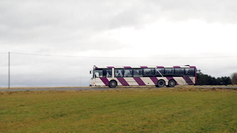 En Landsortsbuss i Jämtland