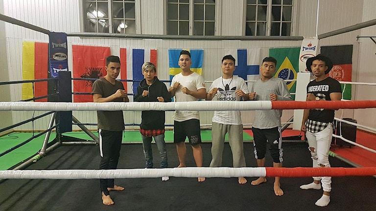 Thaiboxare från ÖJK vid tävlingen Slaget om Dalarna 19-20/8 2017. Foto: ÖJK