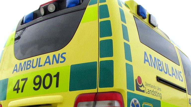 Ambulans - Räddningstjänsten Norra Jämtland Foto: Jan Mårdberg/Sveriges Radio.