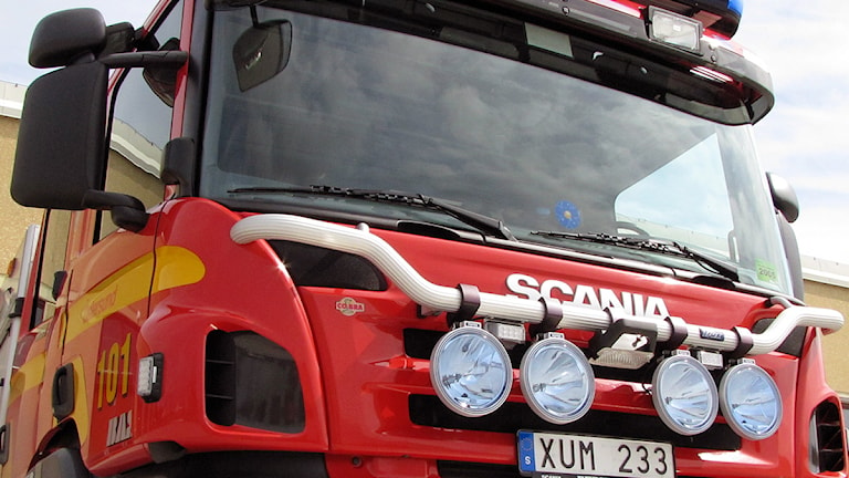 Brandbil - Räddningstjänsten Norra Jämtland Foto: Jan Mårdberg/Sverigs Radio.
